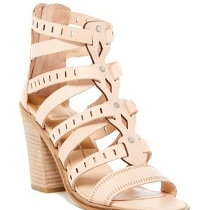 dolce vita leather lain block heel sandal size 7.5